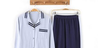 HaloVa Women's Pajamas Open Front Spring Autumn Home Long Sleeve Sleepwear