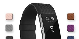 POY Replacement Bands Compatible for Fitbit Charge 2, Classic & Special Edition Sport Wristbands, Small Black, 1PC