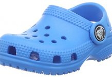 crocs Kids' Classic K Clog, Ocean, 1 M US Little Kid