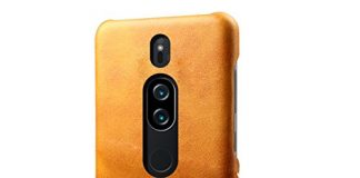 Scheam Sony Xperia XZ3 Wallet Leather Case Protective Durable Durable Protective Case Shell Folio flip Cell Phone Cover Bag Card Slots,Cash Pocket,Orange