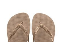 Havaianas Women's Top Tiras Sandals, Rose Gold, 37/38 BR (7-8 M US)