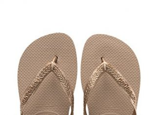 Havaianas Women's Top Tiras Sandals, Rose Gold, 37/38 BR (7-8 M US)