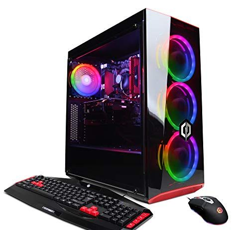 CYBERPOWERPC Gamer Xtreme VR GXiVR8060A5 Gaming PC (Intel i5-8400 2.8GHz, 8GB DDR4, NVIDIA GeForce GTX 1060 3GB, 120GB SSD, 1TB HDD, WiFi & Win 10) Black