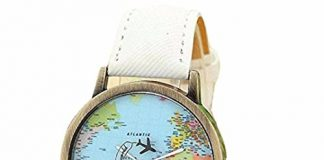 Women Girls Analog Quartz Watches On Sale Clearance Cuekondy New Global Travel By Plane Map Dial