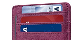 Slim Minimalist Leather Wallets for Men & Women - Bassa Purple