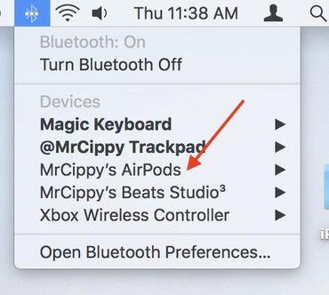 airpods-bluetooth-menu-mac