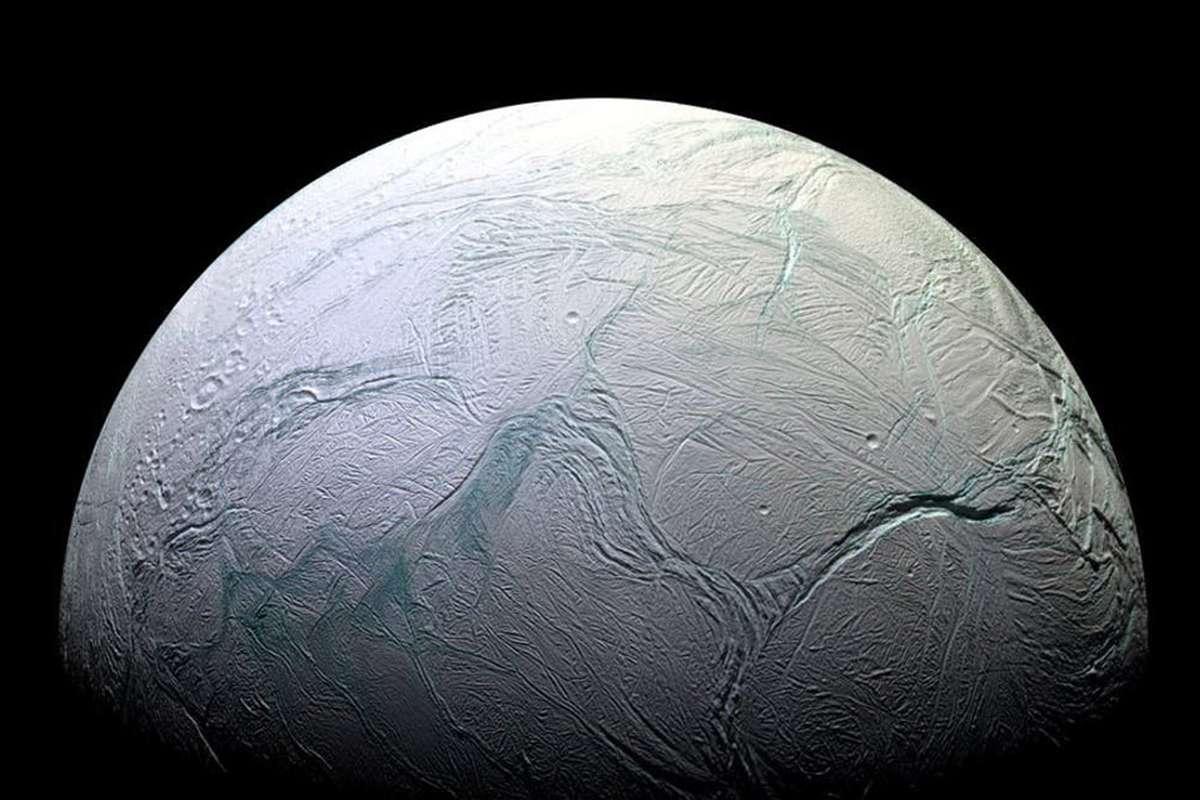 Do waves crash beneath the surface of Enceladus?
