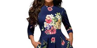 LOMONER Sexy Dresses for Women Lace Party Wedding Elegent A-line Vintage Printing Vestidos Dress Today's Deals