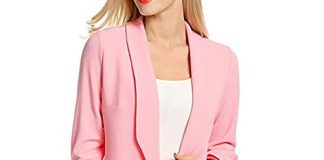AgrinTol Women 3/4 Sleeve Blazer Open Front Short Cardigan Suit Jacket Work Office Coat