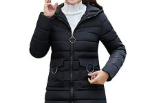 Coats For Women On Sale, Clearance!! Farjing Women Winter Sale Warm Coat Hooded Thick Warm Slim Jacket Long Overcoat(XL,Black)