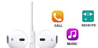 SpeedScope Earphones,Headphones with Microphone and Noise Isolating Headset Made, Compatible with iPhone8/8 Plus/iPhone7/7 Plus and iPhone Xs/XS Max/XR/X Earbuds Earphones[1 Pack]