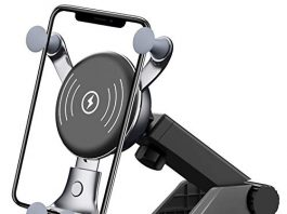 BESTHING 7.5W & 10W Wireless Charger, Dashboard & Windshield Car Mount, Cell Phone Holder, 10W Compatible for Samsung Galaxy S9/S9+/S8/S8+/Note 8, 7.5W Compatible for iPhone Xs Max/Xs/XR/X/ 8/8 Plus
