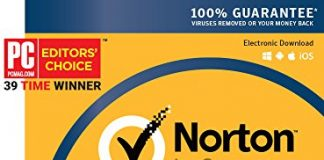 Norton Security Deluxe – 5 Devices – 1 Year Subscription – Product Key Card - 2019 Ready