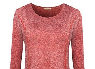 Viracy Fitness Tops for Women, Lady Tennis Shirts Lightweight Regular Fit Easy Care Sports Fitness Exercise Yoga Running Tunic Cute Polyester Outdoor Recreation Camping Blouse Red XXL