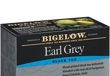 Bigelow Earl Grey Tea Bags 20-Count Boxes (Pack of 6), 120 Tea Bags Total.  Caffeinated Individual Black Tea Bags, for Hot Tea or Iced Tea, Drink Plain or Sweetened with Honey or Sugar