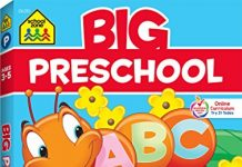 School Zone - Big Preschool Workbook - Ages 4 and Up, Colors, Shapes, Numbers 1-10, Alphabet, Pre-Writing, Pre-Reading, and Phonics (Big Get Ready Workbook)