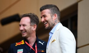 Christian Horner and David Beckham.