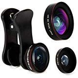 Empire of Electronics iPhone Camera Lens Kit - 3 in 1 Fisheye Lens, Wide Angle Lens & Macro Lens; Clip On Cell Phone Accessory, Camera Lens Attachment for Smartphone, iPhone, Android, Samsung & Tablet