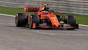 Leclerc leads.