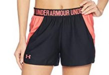 Under Armour Women's Play Up 2.0 Shorts, Black (040)/Watermelon, XX-Large