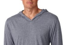 Next Level Apparel Men's Tri-Blend Extreme Soft Rib Knit Hoodie, X-Small, Premium Heather