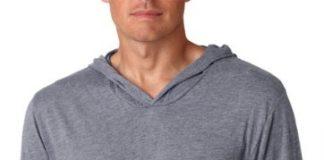 Next Level Apparel Men's Tri-Blend Extreme Soft Rib Knit Hoodie, X-Small, Premium Heather