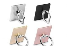 (4 - Pack) MobilePhone Ring Holder Stand, FURgenie 360° Rotation Universal Smartphone Ring Grip Stand Car Mounts for iPhone, iPad, Samsung, Other Smartphones and Tablets