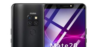 Full Screen Unlocked Smartphone | 6.1 inch Android 8.1 Ultrathin 4 HD Camera Cell Phones | GSM 4G LTE WiFi Mobile Phone 1G RAM, 16GB ROM, 8-Core Processor Cellphone Telephones 2 SIM (Black)