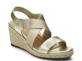 Vionic Women's Tulum Ainsleigh Backstrap Heels – Ladies Wedge Sandals with Concealed Orthotic Support - Champagne 6M