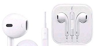 Earbuds/Earphones, Aictoe Microphone Earphones Stereo Headphones Noise Isolating Headset Fit Compatible with iPhone 8/8 Plus/ 7/7Plus/ X/XS/XS Max/XR (White) …