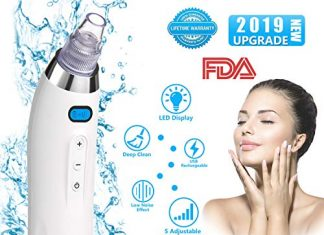 Blackhead Remover Blackhead Vacuum Rechargeable Pore Vacuum Blackhead Remover Vacuum Blackhead Vacuum Suction Remover for Comedone Acne Suction Tool for Facial Skin Treatment