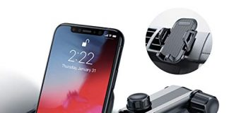 Dashboard Car Phone Mount Universal Stable Windshield Car Phone Holder Long Arm Washable Sticky Gel Pad Cell Phone Car Mount Cradle Fit for iPhone X XS Max XR 8 Plus Samsung Galaxy S10 S9 Note 9