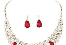 Clearance Deal! Hot Sale! Necklace,Womens Mixed Style Bohemia color Bib Chain Necklace Earrings Jewelry (Red)