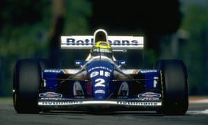 Ayrton Senna in his Williams during the San Marino Grand Prix at the Imola circuit in 1994