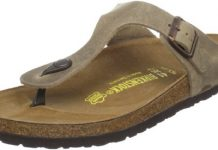 Birkenstock Women's GIzeh Thong Sandal, Tobacco Brown Leather, 41 M EU/10-10.5 B(M) US