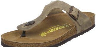 Birkenstock Women's GIzeh Thong Sandal, Tobacco Brown Leather, 41 M EU/10-10.5 B(M) US