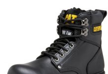 "Caterpillar Men's 2nd Shift 6"" Steel Toe Boot,Black,10 M US"