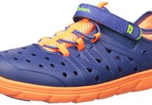 Stride Rite Made 2 Play Phibian Sneaker Sandal Water Shoe (Toddler/Little Kid/Big Kid), Navy, 7 M US Toddler