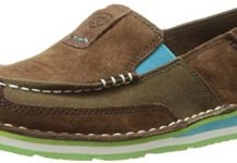 Ariat Women's Cruiser Slip-on Shoe, Palm Brown, 8 B US