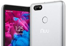 """NUU Mobile A5L Unlocked Cell Phone - 5.5"""" Android Smartphone - Silver"""