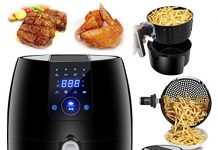 SUPER DEAL NEWEST 1500W Digital Air Fryer 3.7 Quart Large Capacity For Healthy Oil Free Cooking, w/ 8 Cooking Presets, Auto Shut off & Timer, Dishwasher Safe Parts, Recipes & CookBook