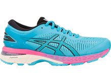 ASICS Women's Gel-Kayano 25 Running Shoes, 7.5M, Aquarium/Black