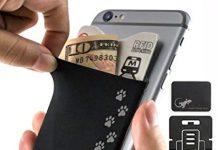 Dog Paws Phone Case by Gecko - Dog Paw Phone Pocket - Paws Card Holder - (Dog Paw Black)