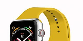 VATI Sport Band Compatible with Apple Watch Band 38mm 42mm 40mm 44mm, Soft Silicone Strap Replacement Bands Compatible with iWatch Series 4