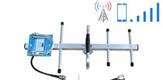 Phonelex AT&T Cell Phone Signal Booster T-Mobile 4G LTE 700Mhz FDD Band12/17 Cell Phone Booster ATT Mobile Phone Signal Booster Amplifier Signal Booster Repeater with Whip+ Yagi Antenna Kits for Home