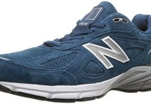 New Balance Men's 990v4 Running Shoe, North Sea/White, 9 D US