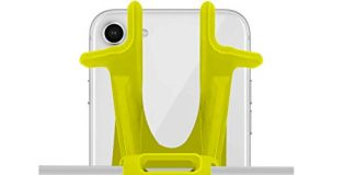 Ailun Bike Silicone Strap Phone Mount Holder,Universal Adjustable Bicycle Motorcycle Handlebar Rack Compatible iPhone 8Plus/8/7Plus/7/6S,Galaxy S9/S9+,S8+/S8/S7/S6 and All Other Devices[Yellow]