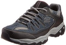 Skechers Sport Men's Afterburn Memory Foam Lace-Up Sneaker, Navy, 9.5 M US