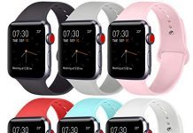 ATUP Compatible with for Apple Watch Replacement Band 38mm 40mm 42mm 44mm Women Men, Soft Silicone Band Compatible with for iWatch Series 4, 3, 2, 1 (# 6 Colors - 02, 42mm/44mm-S/M)