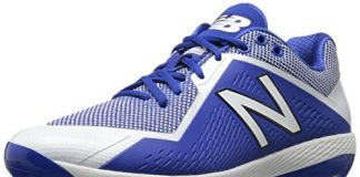 New Balance Men's L4040v4 Metal Baseball Shoe, Royal/White, 9.5 D US